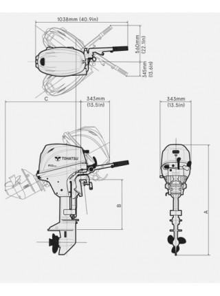 Лодочный мотор Tohatsu MFS 20 EW