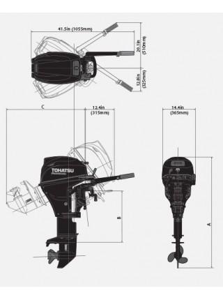 Лодочный мотор Tohatsu MFS 9.9 S