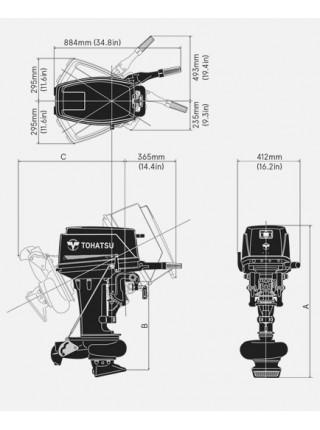 Лодочный мотор Tohatsu M 25 Jet
