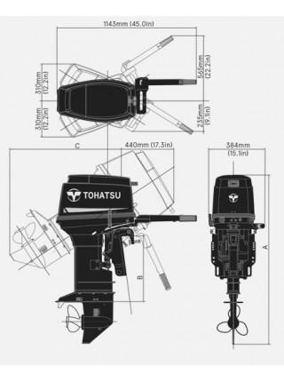 Лодочный мотор Tohatsu M 50 S