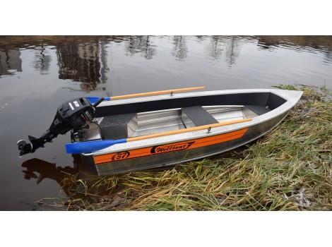 Алюминиевая лодка Wellboat-37 easy