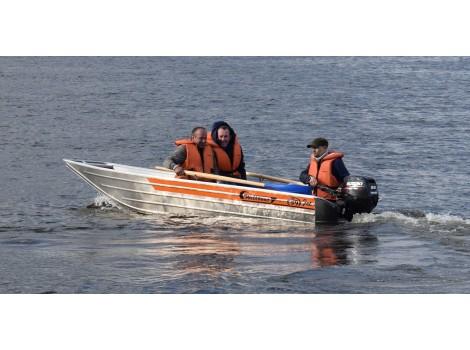 Алюминиевая лодка Wellboat-39jet