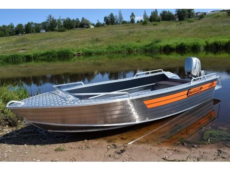 Алюминиевая лодка Wellboat-42 NexT
