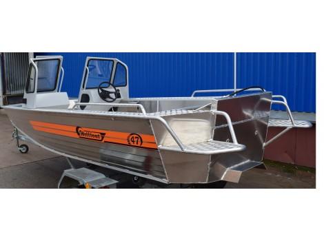 Алюминиевая лодка Wellboat-47МDC