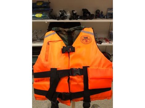Жилет спасательный MEDNOVTEX взрослый до 100 кг оранжевый