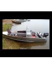 Алюминиевая лодка Wyatboat-390М С ДВУМЯ КОНСОЛЯМИ